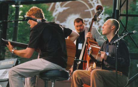 The trio on stage at the Montreal Jazz Festival June 2003 - Photo by Genevieve Benoit